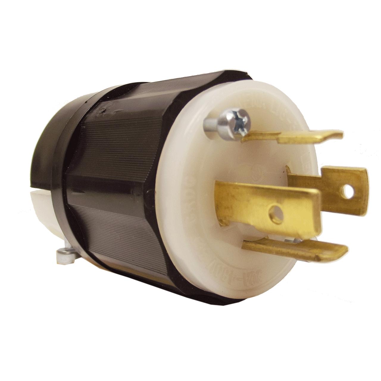 Leviton 2441 20 Amp 120 208 Volt 3 Phase Y 4 Pole Locking Plug Four