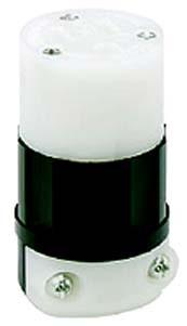 Leviton 5669-C - 15 Amp, 250 Volt, 2P, 3W, Connector, Straight Blade