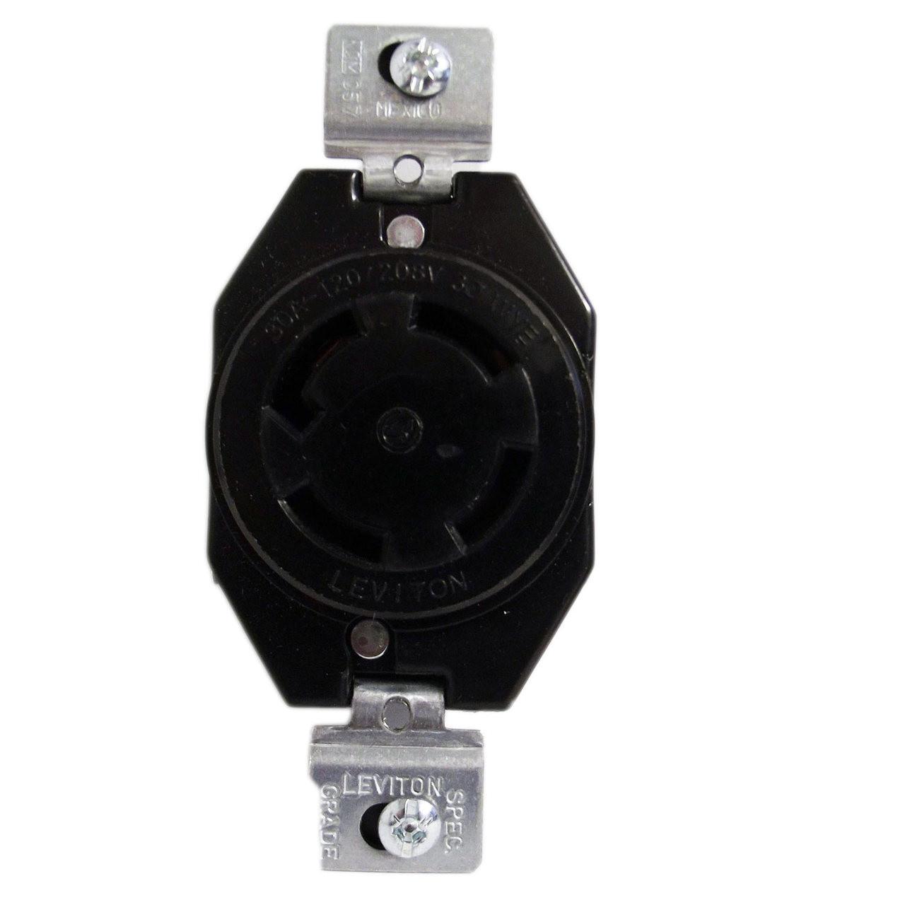 Leviton 3430 Flush Mounting Locking Receptacle