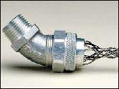 """Leviton L7802 - 1/2"""" 45-Degree Male Deluxe Cord Sealing Strain-Relief (.250- .375)"""