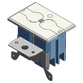 Carlon B121BFBR - Adjustable Floor Box Kit w/Ivory Cover
