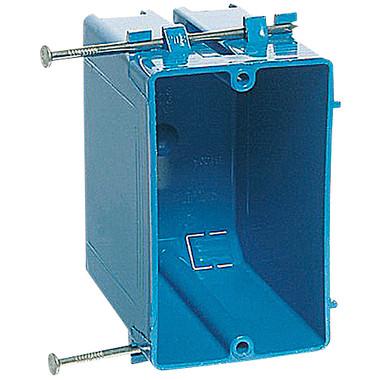 Carlon B120A-UPC - Single Gang Nonmetallic Boxes 20 CU Inch Zip Box W/Nails