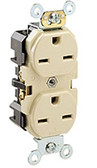 Leviton 5662 - 15A, 250V, 2P, Narrow Body Duplex Straight Blade Receptacle