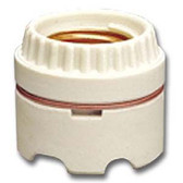 Leviton 9350 - 2-Piece Medium Base Keyless Porcelain Ring-Type Lampholder