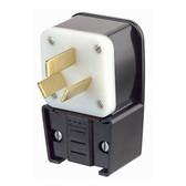 Leviton 9450-P - 50 Amp, 125/250 Volt 3 Pole Straight Blade Plug