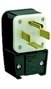 Leviton 9462-P - 60 Amp, 125/250 Volt 3 Pole Straight Blade Plug