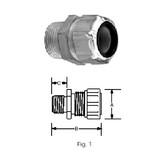 """T&B 2558 - 1-1/4"""" (.880-1.065) Steel Liquidtight Strain Relief Cord Connector"""