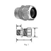 """T&B 2536 - 3/4"""" (.750-.875) Liquidtight Strain Relief Cord Connector"""