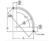 Aluminum 11/2ALUM 90D - Conduit Elbow