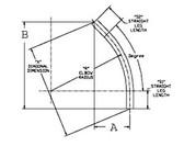"""3-1/2"""" 31/2PVC 45D - 45 Schedule 40 PVC Elbow"""