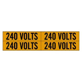 Brady 44210 - 4/Card 240V Voltage Marker