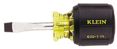 """Klein 600-1 - 1/4"""" Keystone Tip Screwdriver 1-1/2"""" Heavy Duty Round Shank"""