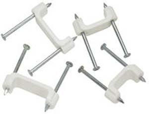 """Buchanan BPS2-1 - 1/2"""" Plastic Insulated Cable Staples (Bag of 100)"""