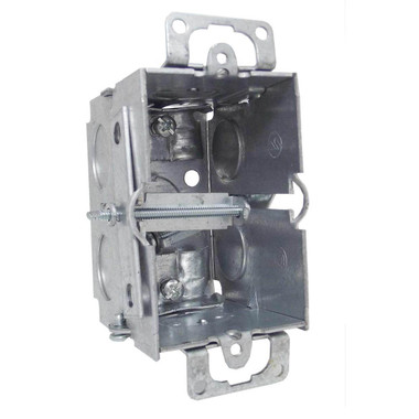"""Appleton 384-OW - 3"""" x 2"""" Square Corner Switch Box w/Nonmetallic Sheathed Cable Clamps"""