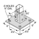 T&B AP232SQ - Steel Square Post Base Connector