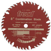 "Freud LU84R008 - 8"" 40 TPI ATBF Combination Saw Blade"
