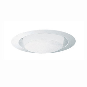 """Juno 241-PW - 6"""" Drop Opal Plastic White Trim with Reflector"""