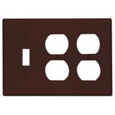 Leviton 85047 - 3- Gang 1-Toggle 2-Duplex Combination Wallplate