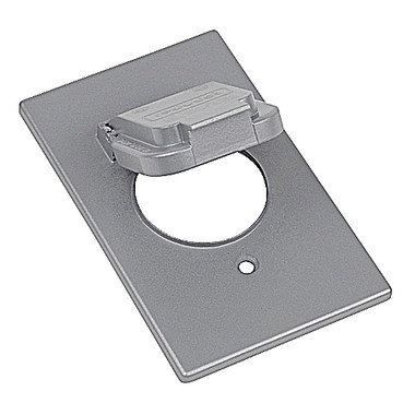 "T&B #CCSV - Red Dot Dry-tite Single Gang 1.59"" Diameter Device Cover"