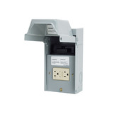 Midwest U065P010 - 60 Amp Single-Phase AC Disconnect Pullout w/15 Amp Weather Proof/Tamper Proof GFCI Receptacle