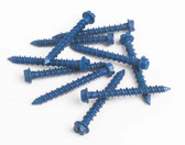 "Fasteners 1/4X13/4 HHCS - 1/4"" x 1-3/4"" Hex Head Concrete Screws - 100 Pack"