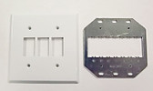 GE RP2-237 2G for 3 Switches Wallplate White