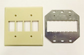 GE RP2-242 Wallplate 2G for 4 Switches Ivory