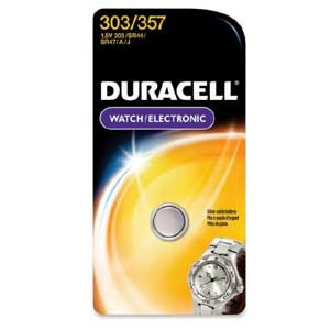 Duracell D303/357PK Silver Oxide Button Cell General Purpose Battery