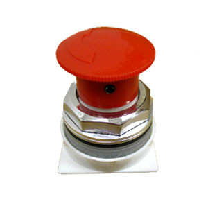 "GE CR104PTR20A0R - 1 3/8"" Dia. Red Pushbutton Switch"