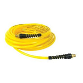 "Power Port XAH 3825-ORS - Premium Oil Resistant 3/8"" x 25' PVC Yellow Air Hose Part"