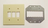 GE RP2-232 2G for 3 Switches Wallplate Ivory
