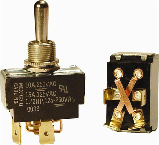 44905SER - 15A 125V DPDT Momentary Toggle Switch