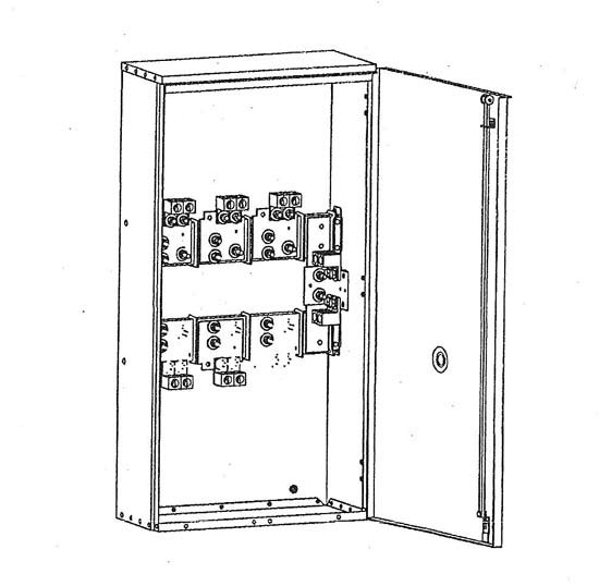 erickson ct81amr - 600/800a 250v 1 phase 3w commercial transformer cabinet  galesburg electric/industrial supply, inc.