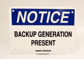 Brady BGP - BACKUP GENERATION PRESENT Plastic Safety Sign