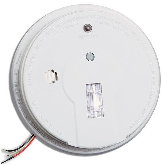 Kidde Firex I12080 Hardwire Smoke Alarm With Exit Light And