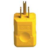 Leviton 5256-VY - 15 Amp 125 Volt, NEMA 5-15P 2P 3W Plug Straight Blade - Yellow