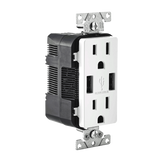 Leviton T5632 - USB Charger/Tamper-Resistant Duplex Receptacle