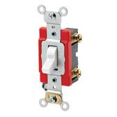 Leviton 1221-2W - 20 Amp 120/277 Volt Toggle Switch-White