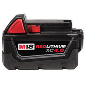 Milwaukee 48-11-1840 - M18 RedLithium XC 4.0 Extended Capacity Rechargeable Battery