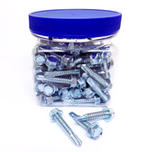14x11/4TEK - Self Drilling Hex Washer Head Screw 100/Jar