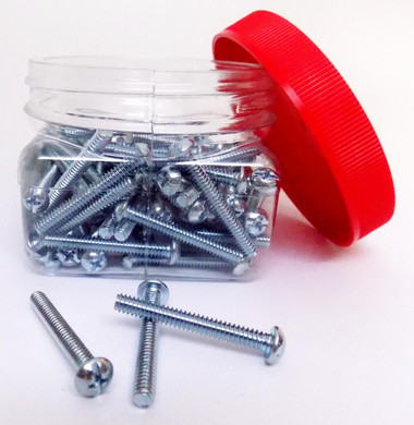10/24X11/2 RH - Round Head Combo Machine Screw 100/Jar