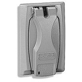 Red Dot DCCU - Single Gang Universal Zinc Flip-Lid - Gray