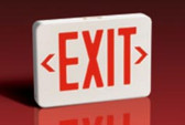 Lightalarms QLXN500RN - LED Red Exit Sign