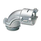 """Bridgeport 809 - 1-1/2"""" Malleable Iron 90 Flexible Metal Conduit Connector"""