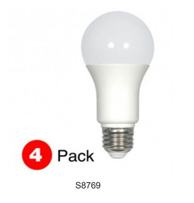 Satco S28769 - LED A19 E26 11.5W 2.7K 4/PK Bulbs