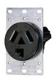 Leviton 5207-S10  Receptacle 30A 125/250V 10-30R  3P Flush Mtg Receptacle in Black