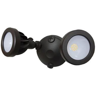 Morris 72580 LED Security Lighting Flood Light 2 Head 24 Watts Bronze 5000K
