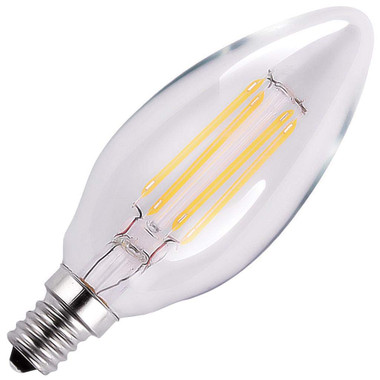 HALCO 85060 B11CL5/ANT/830/LED2 B11 120V 5.5W 3000K E12 CLEAR ProLED