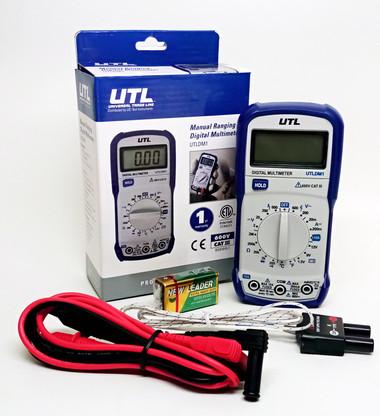 UEI DIGITAL MULTIMETER 600VAC/600VDC W/TEMP