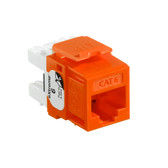 Leviton 61110-RO6 eXtreme Cat 6 QuickPort Jack - ORANGE